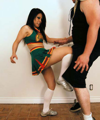 Ballbusting Cheerleader